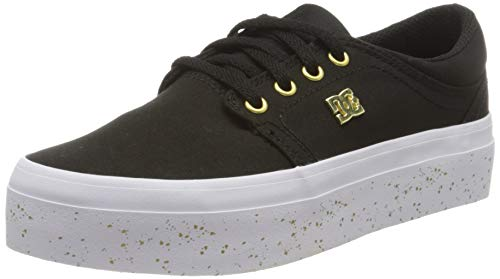 DC Shoes Damen Trase Platform Tx Se Sneaker, Black Gold, 41 EU