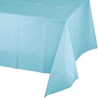 غطاء طاولة من البلاستيك من كرياتيف كونفيرتينغ، طول 108 انش × عرض 54 انش، ازرق