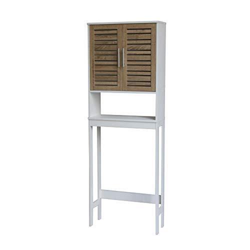 HTI-Line Waschmaschinenüberbauschrank Klara Waschmaschinenschrank Trockner WC-Überbau Hauswirtschaftsschrank WC-Regal mit Ablage Badezimmerschrank