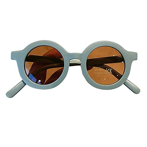 Cyhamse Gafas de sol retro con protección UV, marco grueso, redondas, seguras para niños, no tóxicas