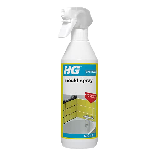 HG Mould Remover Spray, Effective Mould Spray & Mildew Cleaner, Removes Mouldy Stains From Walls, Tiles, Silicone Seals & More (500ml) - 186050106