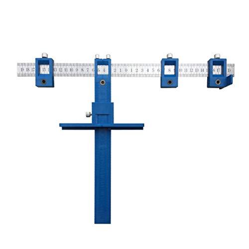 UKCOCO – Herramienta eléctrica, buscador de Agujeros, portabrocas, Plantilla de Plantilla, Orificio de Madera, Tacos para Mangos, Botones en Puertas, Montaje de cajón (Azul)