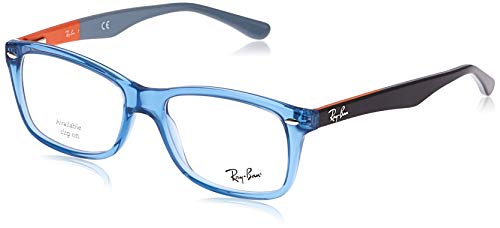 Ray-Ban RX5228 Square Prescription Eyeglass Frames, Blue/Demo Lens, 55 mm
