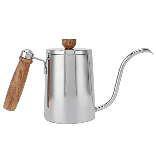 SALUTUY Cafetera, Material Duradero y Seguro para el Agua Vertical de 90 Amantes del café Kit de preparación de café para Cocina(Olla a RAS de Manos de Color Acero Inoxidable)