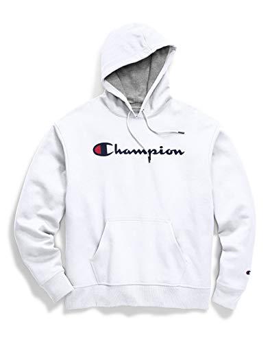 Champion Powerblend Graphic Hoodie Sudadera con Capucha, Blanco-y06794, XS para Hombre