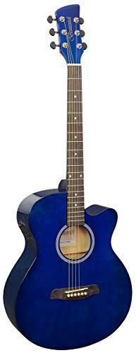 Brunswick Slimline BTK30 - Guitarra electroacústica para auditorium, color azul oscuro