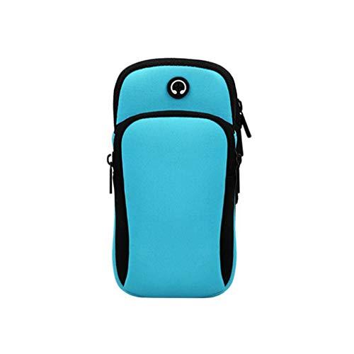Ashui Armband Armtasche, Rennen Outdoor Handytasche Sport Laufen Doppel Reißverschluss Sportarmband Armbinde für Handy,Sport-Armband Spritz-Wasserfest, 2 Reißverschlussfächer