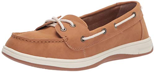 Amazon Essentials Women's Casual 2 Eye Boat Shoe on Comfort Outsole, Natural, 8 B US