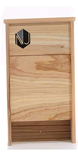 NoJack Two Chamber Bat Box House Kit for Outside Bat Nesting |Premium Large Hanging Cedar Bat Box for Mosquito Control
