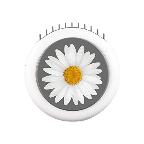 QINX Ventilador de viaje silencioso para verano, redondo, mini portátil, para colgar en el cuello, recargable por USB
