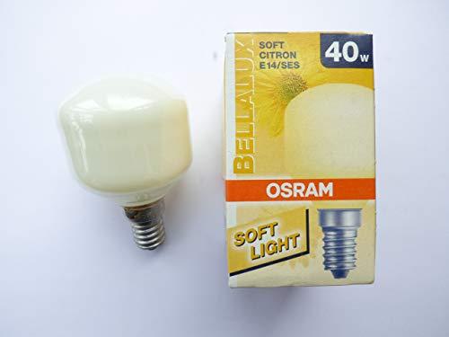 Osram Tropfenglühlampe E14, 40W soft citron, Sonderform