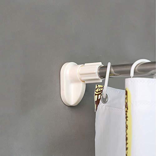 Barra telescópica sin perforaciones, barra de secado de ropa para balcón de baño, utilizada para cortinas de armario de baño y dormitorio, fácil de instalar -23 mm 70-120 cm