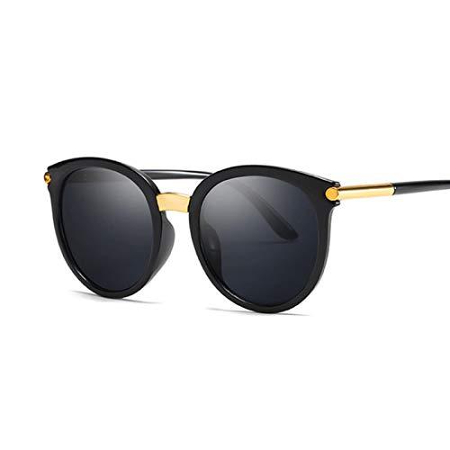 WANGZX Gafas De Sol Ojo De Gato Gafas De Sol De Moda para Mujer Gafas De Sol En Blanco Y Negro Gafas De Sol De Calle para Mujer Negro Gris