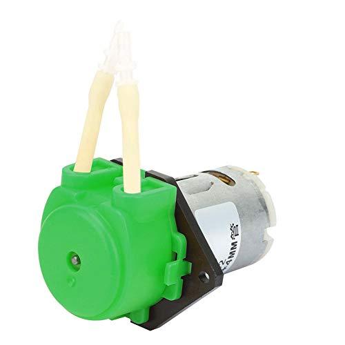 D-2 DC 6V Peristaltische Flüssigkeitspumpe Selbstansaugende Laborpumpe mit konstantem Durchfluss 2 * 4 mm(Green)