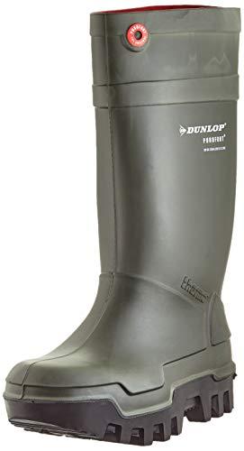 Dunlop Protective Footwear Purofort Thermo+ full safety Unisex-Erwachsene Gummistiefel, Grün 47 EU