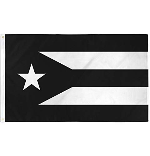 Puerto Rico Black Flag - 3x5ft Poly - Perfect for Homes, Events, parades, Protests, etc!