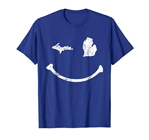 Cute Winking Michigan T Shirt MI Native Michigander Gift