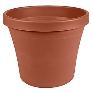 """Silk Flower Arrangements Bloem TR16908 Terra Pot Planter 16"""" Charcoal"""