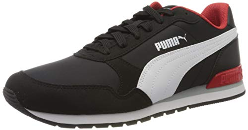 Puma Unisex-Erwachsene ST Runner v2 NL Zapatillas, Schwarz Black White-High Risk Red, 40.5 EU