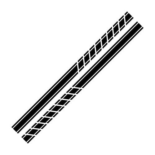 FANGPAN Auto Sport Styling Tür Seitenschweller Streifen Aufkleber ,Für Opel OPC Astra JHG Insignia Corsa DBE Mokka Vectra B Auto Zubehör