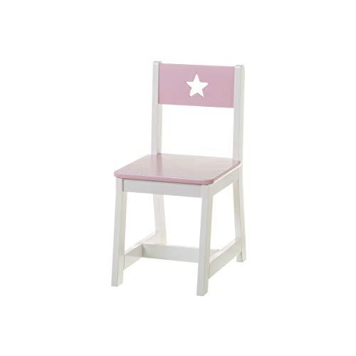 Silla Infantil Rosa de Madera Moderna para Dormitorio Child - LOLAhome