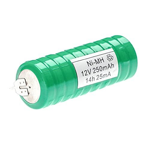 vhbw NiMH Batería de botón de Repuesto Tipo V250H 250 mAh 12 V Compatible para lámparas solares, etc.