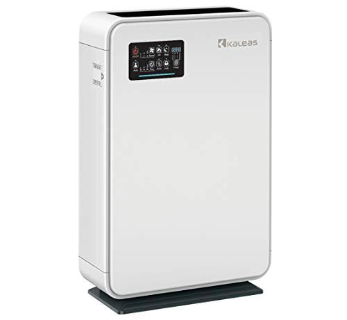 Kaleas APF-40 Air Purifier Luftreiniger Ionisierer mit HEPA H13 Aktivkohle Kohle- Grob Filter gegen Hausstaub, Feinstaub, Pollen, Hausstaubmilben, Gerüche, ideal für Allergiker und Asthmatiker (63140)