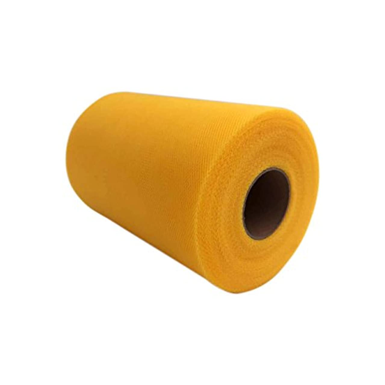 Tulle Roll Spool 6 Inch x 100 Yards (300FT) Wedding Party Decoration,Tutu Skirts with Elastic Band by RayCC (Yellow Colour)