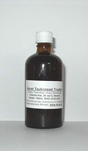 Asvet 100ml Taubnessel Tinktur, Tropfen, Weiße Taubnessel Konzentrat ohne Chemie, handgemacht, 100% vegan und natürlich !