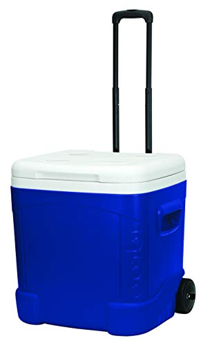 Igloo Ice Cube 60 Quart Roller Cooler , Ocean Blue