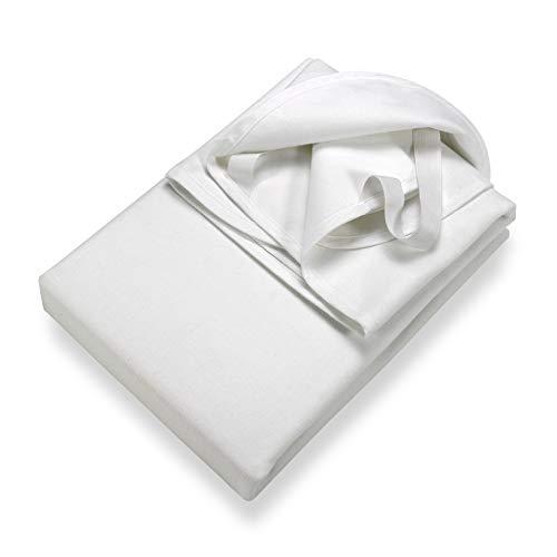 SETEX Wasserdichter Molton Matratzenschutz, 3-lagig, 90 x 200 cm, 100 % Baumwolle, Generation, Weiß, 14U2090200001002