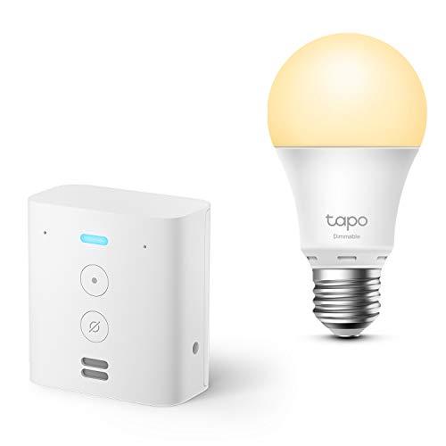 Echo Flex + TP-Link Tapo Ampoule Connectée (E27), Fonctionne avec Alexa