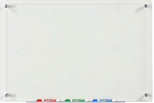 Weiße Glasplatte Schreibtafel (Klar/Transparent) - 60 cm x 90 cm - (nicht magnetisch)