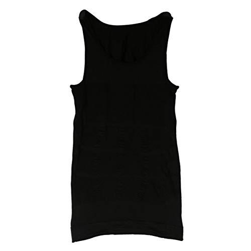 Rendeyuan Hombres Corsé Body Adelgazante Tummy Shaper Chaleco Belly Waist Faja Camisa Fajas Ropa Interior Cintura Faja Camisa - Negro - L