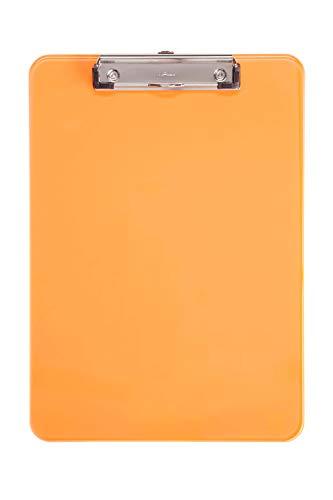 Maul 2340641 Schreibplatte, Kunststoff, A4 Klemmbrett, Aufhangöse, orange
