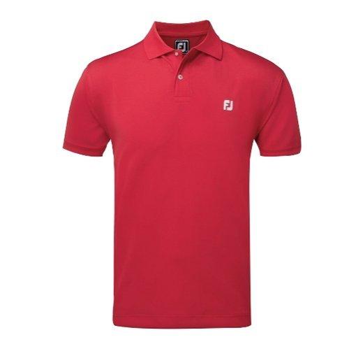 Footjoy FJ Crest Shirts Polo, Hombre, Rojo, XX-Large (Tamaño del Fabricante:XXL)