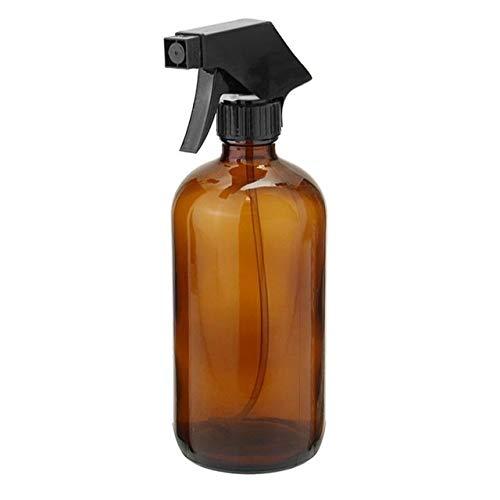 Jinqiuyuan 250 / 500ml Ambre Verre Alcool Désinfection Vaporisateurs Huile Essentielle aromathérapie Distributeur cosmétique Nettoyage récipient avec Noir Pulvérisateur Trigger