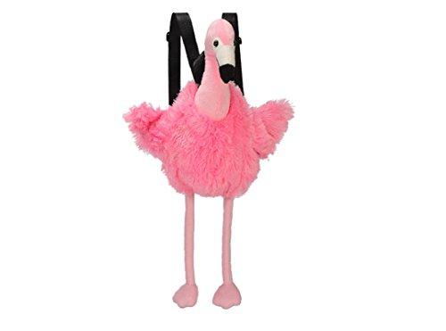 Bavaria Home Style Collection Rucksack aus Plüsch Kinderrucksack Tasche Beutel Plüschrucksack Flamingo ca. 50 cm Plüschtier Kuscheltier rosa pink - Geschenkideen Geburtstag , Ostern , Weihnachten