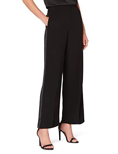 Marchio Amazon - Truth & Fable Pantaloni Gamba Larga Donna, Nero (Black), 52, Label: 3XL
