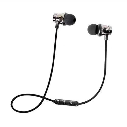 Nanshoudeyi Bluetooth-Kopfhörer, wasserdicht, kabellos, 5-7 Stunden Spielzeit, satter Bass, Sport-Headset, Jogging/Laufen, integriertes Mikrofon für iPhone Android Samsung iPad One Size grau