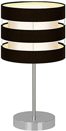 BoMiVa Lámpara de Mesa Lámpara de mesa creativa moderna, lámpara de mesa de metal LED, luz nocturna de lectura, utilizada para iluminación decorativa de la mesita de noche en la sala de estar, dormito