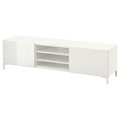 IKEA BESTA - TV-Bank mit Schubladen Weiß / selsviken Hochglanz / weiß