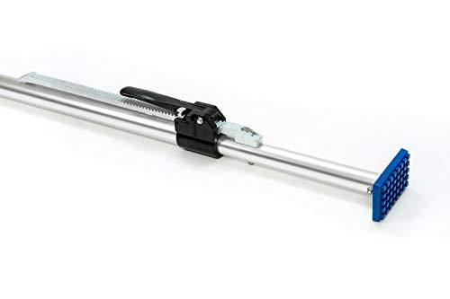 1 x Aluminium-Klemmbalken für PKW/PKW Alu-Klemmbalken, 1,30-1,67 m Einsatzbereich, Gummifüsse