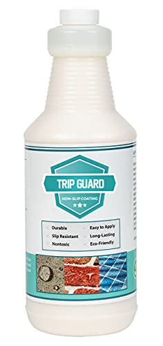 Trip Guard - Clear Anti Slip - Non Skid - Safety Tile and Floor Treatment - Multi-Surface Coating - Prevents Slip and Fall Accidents