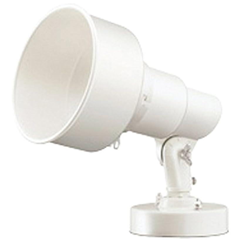 宿るコミットメント相談岩崎 アイランプホルダ(投光器) K00F 屋外用 フード付 フランジ付 レフランプ?セルフバラスト水銀ランプ用 E26 白色(ホワイト) 口出線0.2m K00F-F/W