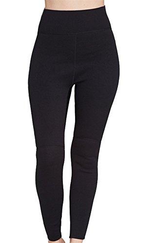 Pantalones de Neopreno de Neopreno de 2 mm para Mujer Buceo Snorkel Scuba Surf Pantalones de Canoa (Black, M)