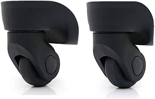 1 ペア スーツケースに使える代用品 交換 ホイール静音 キャスター スーツケースキャリーボックスなどの車輪補修用 取替え 代用品 取替え DIY トラベルバッグラゲッジ修理 交換 (W013 黒い)