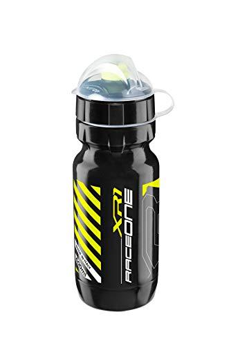 Raceone.it - Borraccia MOD. XR1 Ideale per Bici Race/MTB/Gravel/Trekking Bike. capacità: 600 CC Colore Nero/Giallo Fluo. 100% Made in Italy