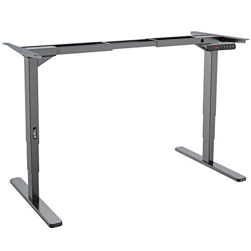 UMI. Essentials Electric Height Adjustable Standing Desk Frame with Memory Controller; All-Steel, Dual Motor (Black)