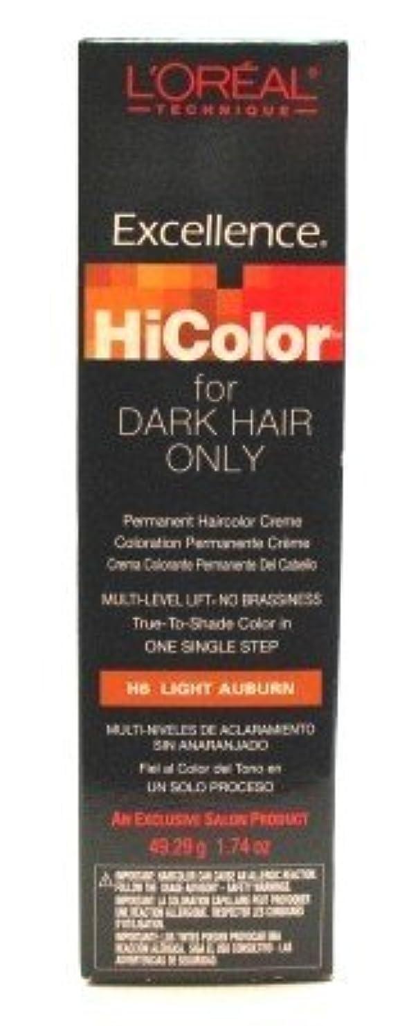 二次正気知るL'Oreal Excel Hicolor Light Auburn 51 ml Tube (Case of 6) (並行輸入品)